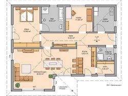 Kern-Haus Bungalow Vita Grundriss