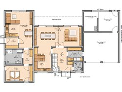 Kern-Haus Mehrfamilienhaus Vivaro Grundriss Erdgeschoss