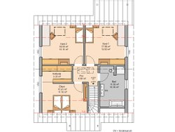 Grundriss Kern-Haus Familienhaus Jano Dachgeschoss