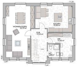 Friesenhaus 160 - Grundriss Erdgeschoss