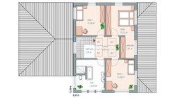 Musterhaus Mannheim - Grundriss Dachgeschoß