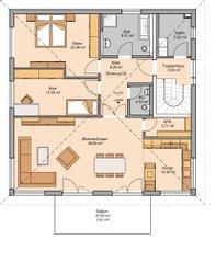 Kern-Haus Zweifamilienhaus Duplea Obergeschoss