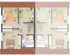 Grundriss Dachgeschoss Doppelhaus Behringen 116