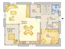 Planungsbeispiel Einfamilienhaus 152H20 - Grundriss EG