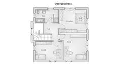 hebelHAUS EFH Stadthaus 22.2 Grundriss Obergeschoss