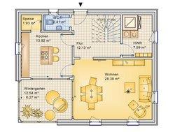 Planungsbeispiel Einfamilienhaus 139H20 - Grundriss EG