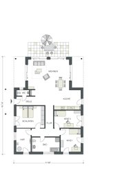 Der Bungalow hat etwas über 150 m² und ist aufgrund seiner pfiffigen Innenaufteilung ein Traumhaus für alle, die es gerne ein bisschen komfortabler haben. Das Musterhaus in Oranienburg steht interessierten Besuchern offen.