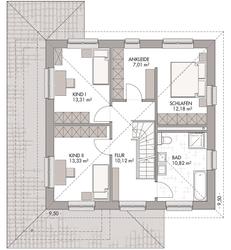 Stadtvilla 160 - Grundriss Obergeschoss