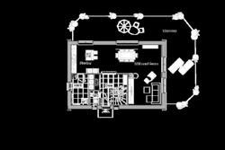 Sehr großer Wohn-/ Essbereich mit offener Küche.
