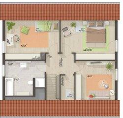 Grundriss Dachgeschoss Mitwachshaus Flair 148 - Standard