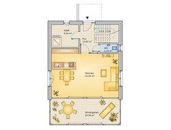 Planungsbeispiel Einfamilienhaus 154H20 - Grundriss EG