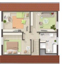 Grundriss Dachgeschoss Flair 110