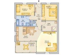 Bungalow Planungsbeispiel 108H10 - Grundriss