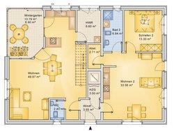 Planungsbeispiel Einfamilienhaus 252H20 - Grundriss EG