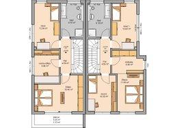 Grundriss Doppelhaus Linus L Obergeschoss
