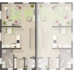 Grundriss Erdgeschoss Doppelhaus Aura 125