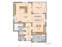 Grundriss Architektenhaus Akzent von Kern-Haus Erdgeschoss