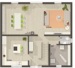 Grundriss Erdgeschoss Flair 134