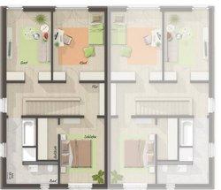 Grundriss Obergeschoss Doppelhaus City 136