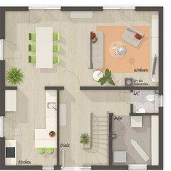 Grundriss Erdgeschoss Stadthaus Flair 124
