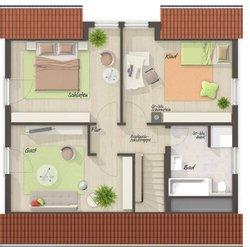 Grundriss Dachgeschoss Flair 125