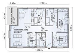 Grundriss SH 127 B Variante A