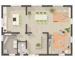 Grundriss Erdgeschoss Landhaus 142