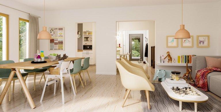Wohnbeispiel Wohnzimmer Copyright: © Living Haus 2019