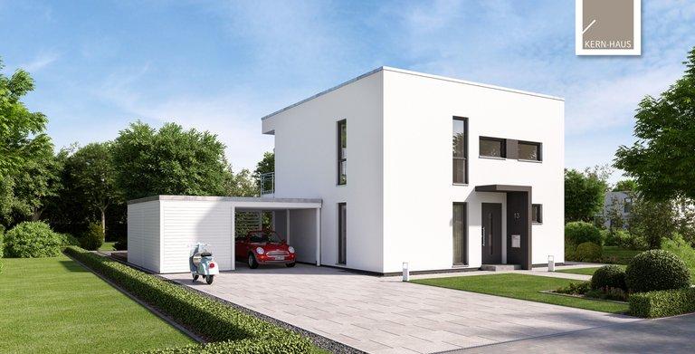 Moderne Elganz im Bauhausstil mit dem Bauhaus Novum von Kern-Haus Copyright: