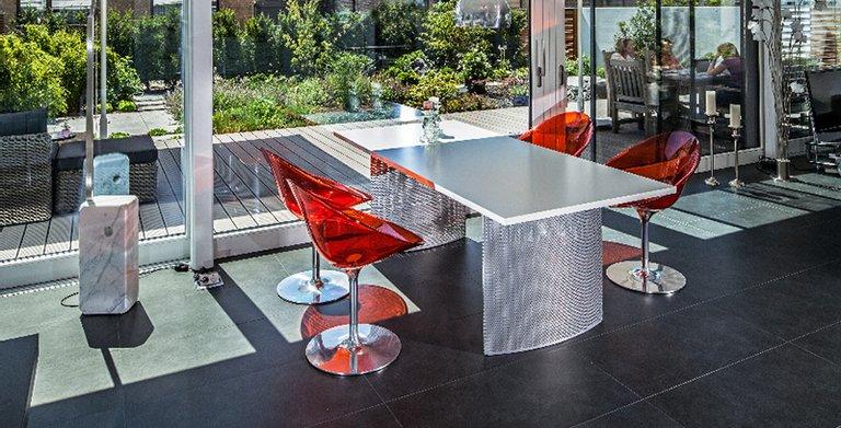 Essbereich mit Ausblick auf Terrasse Copyright: BAUMEISTER-HAUS