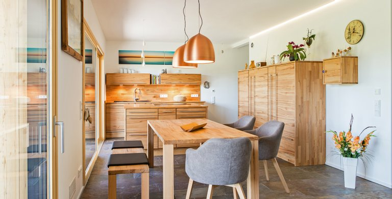 Naturholzhaus Martha Essbereich Copyright: