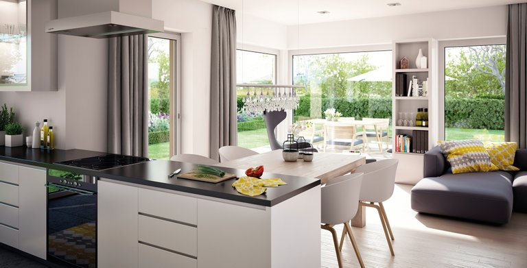solution 230 v6 von living fertighaus gmbh wohngl. Black Bedroom Furniture Sets. Home Design Ideas