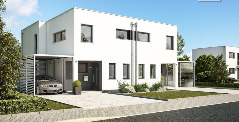 Kern-Haus Doppelhaus Linum Eingangsbereich Copyright: