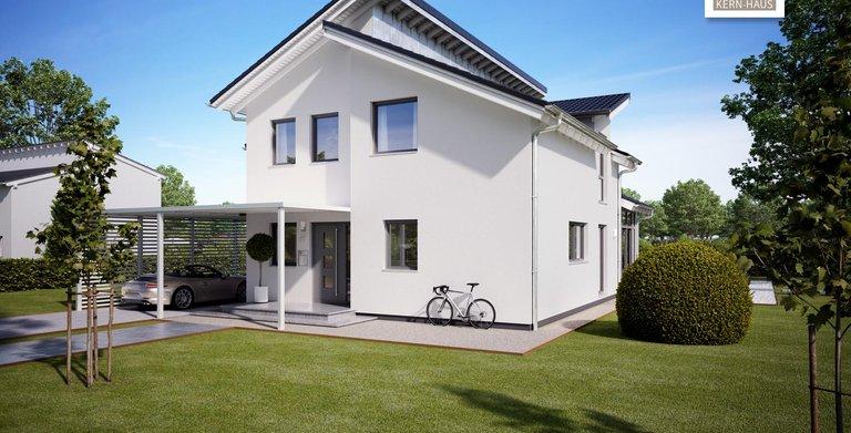 Große, helle Wohnräume mit dem Architektenhaus Akzent von Kern-Haus Copyright: