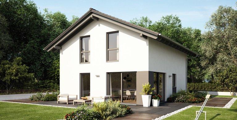 Das MEDLEY ist besonders flexibel: Ein Wintergarten lässt sich beispielsweise an drei unterschiedlichen Stellen am Haus einplanen.