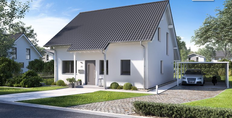 Kern-Haus Familienhaus Jano Eingangsseite Copyright:
