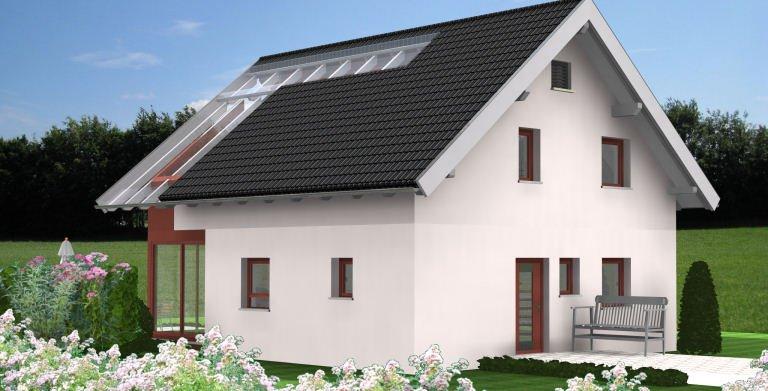 Planungsbeispiel Einfamilienhaus 125H15 - Ansicht Nordseite