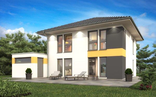 stadtvilla sh 135 s von scanhaus marlow gmbh wohngl. Black Bedroom Furniture Sets. Home Design Ideas