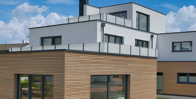 Naturholzhaus Azur Gartenansicht Copyright: