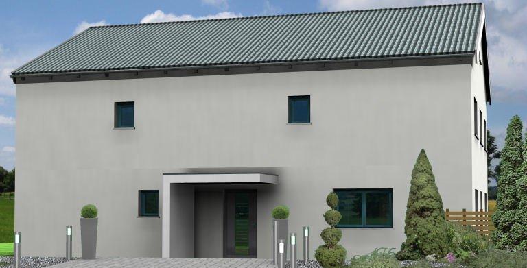 Planungsbeispiel Einfamilienhaus 252H20 - Ansicht Nordseite Copyright: Bio-Solar-Haus