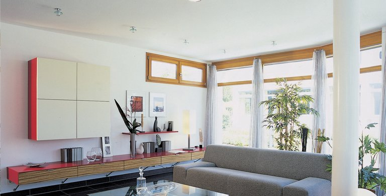 Großzügig gestalteter Wohnbereich Copyright: WeberHaus