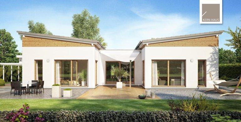 Besonders ist beim Bungalow Fokus vor allem das Dach mit zwei entgegengesetzten Pultdächern. Copyright: