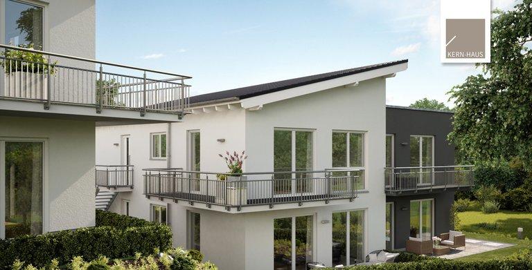 Kern-Haus Mehrfamilienhaus Quadra Gartenseite Copyright:
