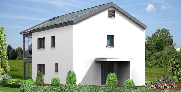 Planungsbeispiel Einfamilienhaus 154H20 - Ansicht Nordseite Copyright: Bio-Solar-Haus