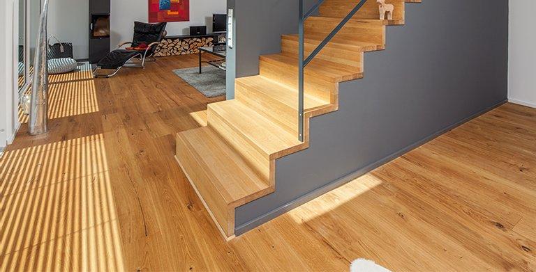 Treppenaufgang zum Gartengeschoss Copyright: