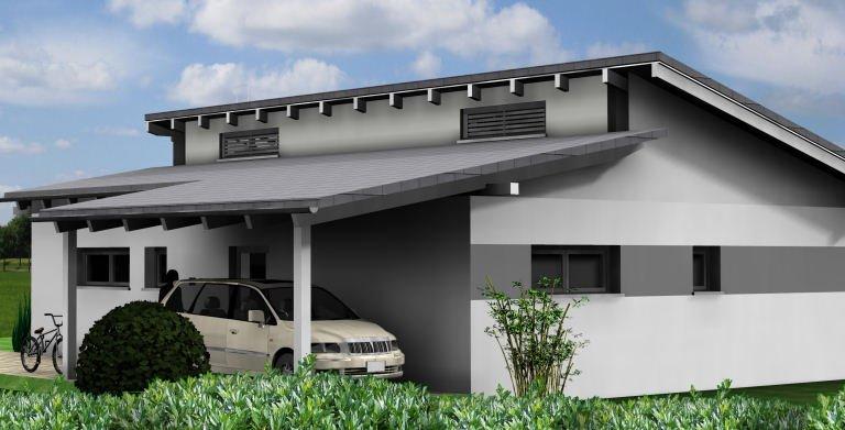 Bungalow Planungsbeispiel 95H10 - Ansicht Ostseite Copyright: Bio-Solar-Haus