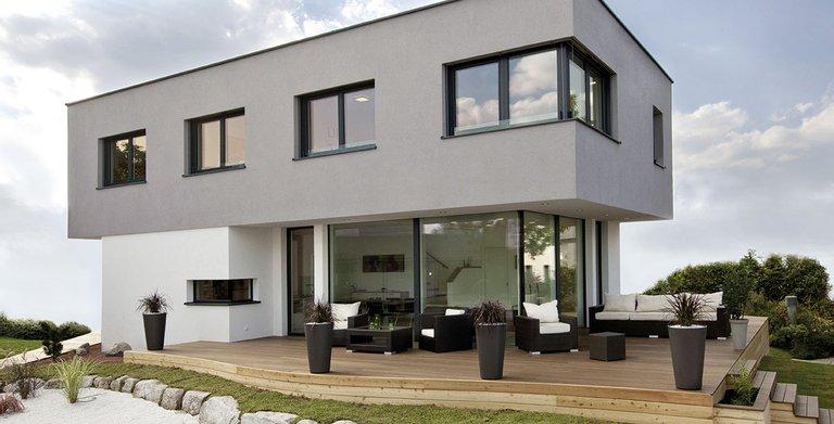Flachdachhaus KUBOS Neudorf von KAMPA GmbH
