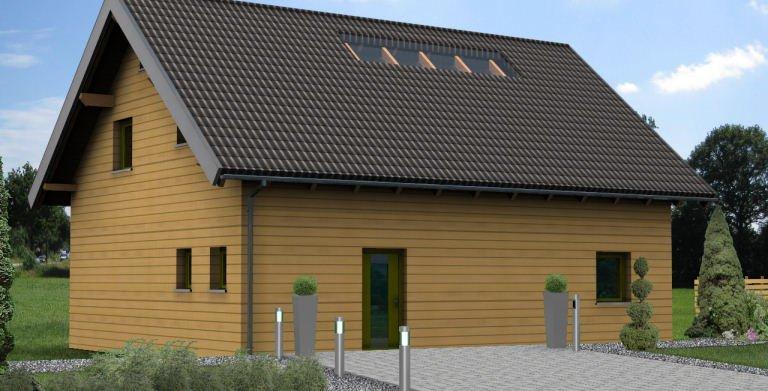 Planungsbeispiel Einfamilienhaus 139H15 - Ansicht Nordseite Copyright: Bio-Solar-Haus