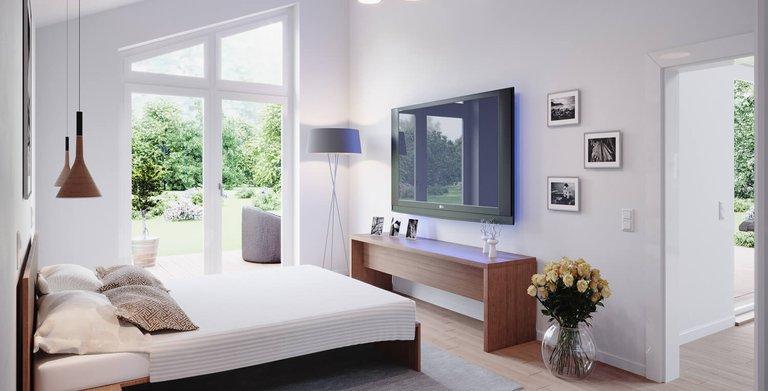 Bungalow SH 147 B - Schlafzimmer Copyright: ScanHaus Marlow GmbH