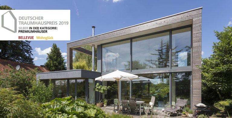 """Haus Peters gewinnt Silber beim Traumhauspreis 2019 in der Kategorie """"Premiumhäuser"""""""